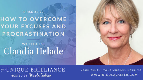 Claudia Helade on Your Unique Brilliance Podcast with Nicola Salter