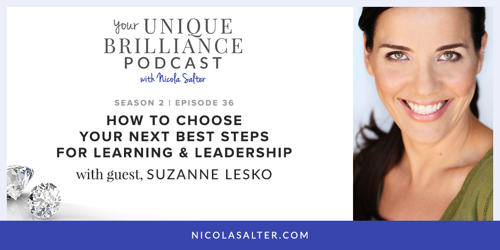 Suzanne Lesko on Your Unique Brilliance Podcast with Nicola Salter